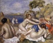 Three Bathers with a Crab
